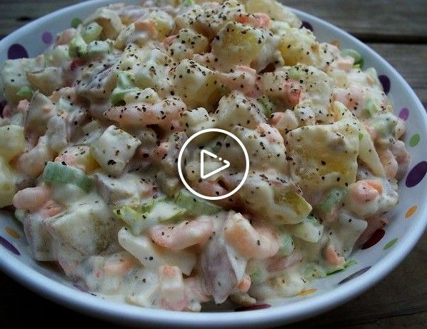 s Shrimp Potato Salad from : This is a cool and refreshing salad that my mom used to make a lot, and my family has enjoyed for years. I know you will too! It's great at cookouts, picnics, family gatherings, wedding and baby showers, or just at home for the family...From my family to yours, ENJOY!Shirley s Shrimp Potato Salad from : This is a cool...