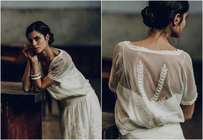 luce un romántico vestido de novia laure de sagazan 2016. ¡te