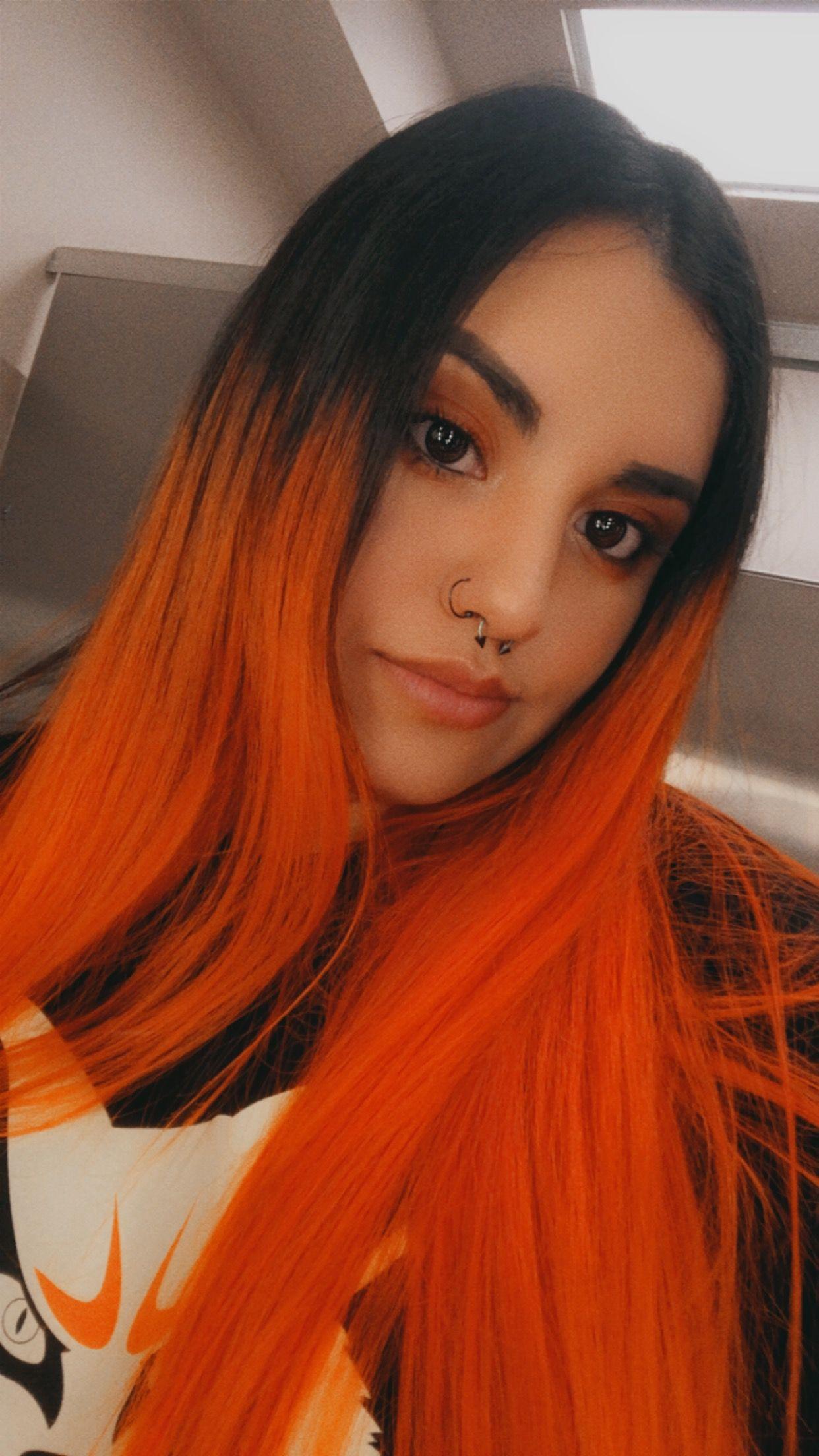Orange and black hair   Hair color orange, Roots hair, Orange hair