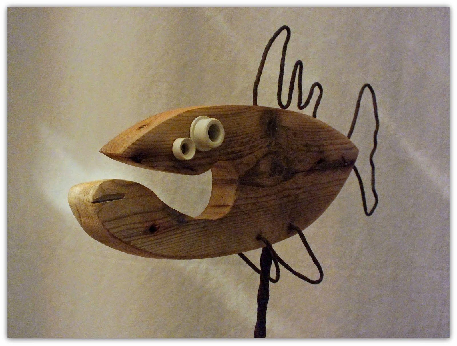 o fishl driftwood funny fish poisson en bois flotté legni di