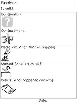 Simplified worksheet to be used during experiments to ...