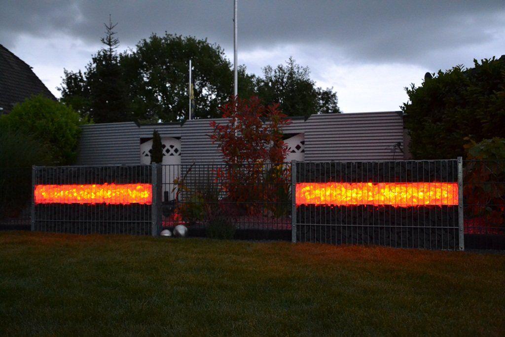 Gut Gelungene Gabione Mit Led Beleuchtung Von Gardenlights De Gabionen Steinkorbe Led Leuchten