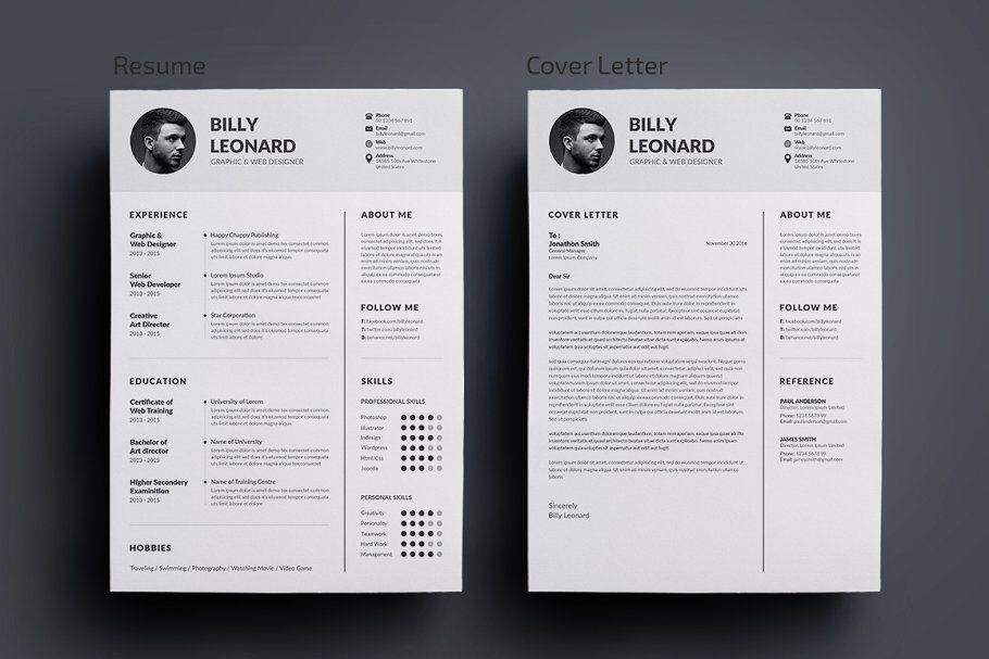 Ad resumecv by deviserpark on creativemarket resume is