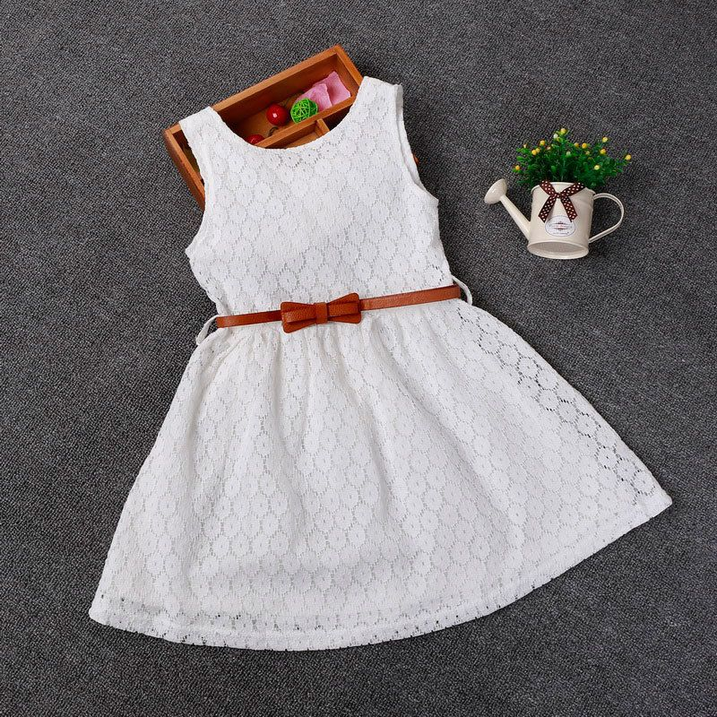 62501313d00f Cool Berngi 2-8 Years Summer 100% Cotton Lace Vest Girls Dress Baby Girl  Gift Dress Chlidren Clothes Kids Party Clothing Free Belt -   - Buy it Now!