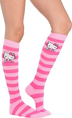 0c98e0af2 Hello Kitty Knee-High Socks from Party City   Hello Kitty love ...