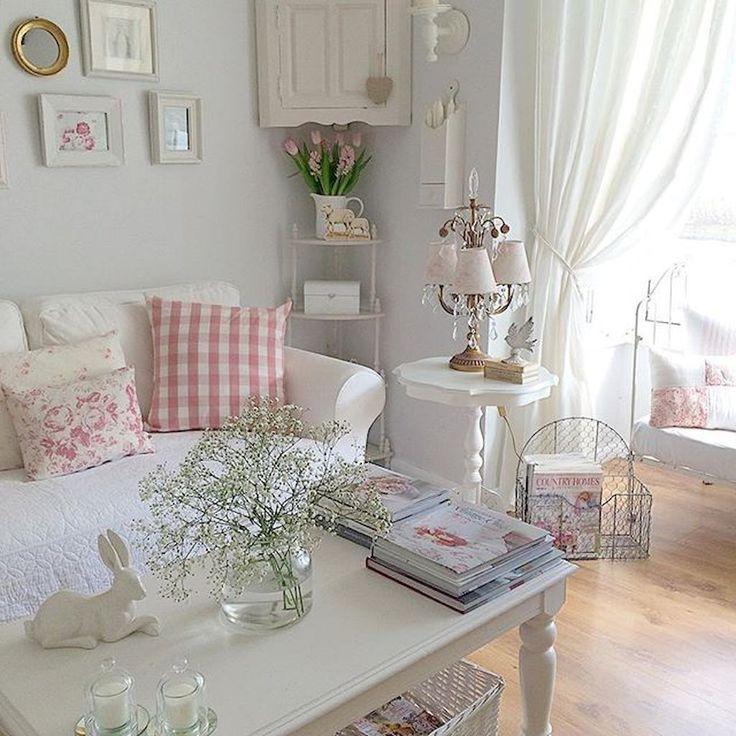 Photo of Shabby Chic Einrichtung 50 Shabby Chic Farmhouse Living Room Decor Ideas  #Chic #Decor #Einri…