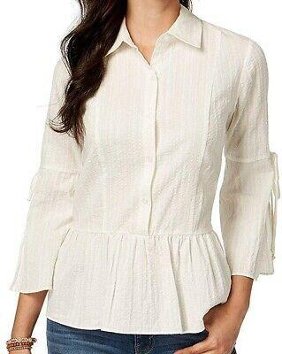 Style & Co. Women's Top White Size 2X Plus Button Down Shirt Peplum $65 #035 #fashion #clothing #shoes #accessories #women #womensclothing (ebay link)