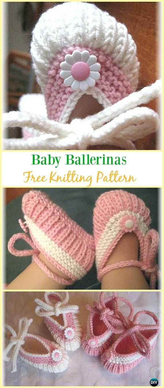 Knit Baby Ballerinas Booties Free Pattern - Knit Slippers Booties ...