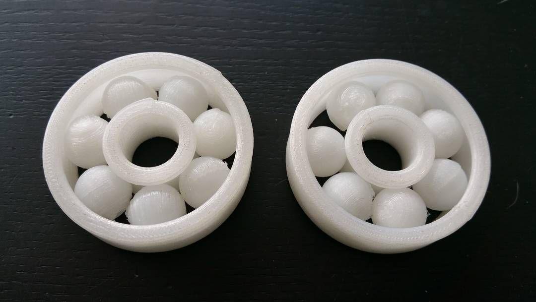 Nylon ballbearings. Not tuned fully yet but functional ;-) #3dpc #3DKreator #3dprinting #design #tech #tools by sandervandervelden