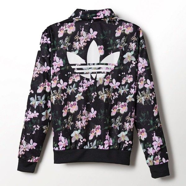 Adidas Orchid Firebird Track Jacket ($56) ❤ liked on Polyvore featuring  outerwear, jackets