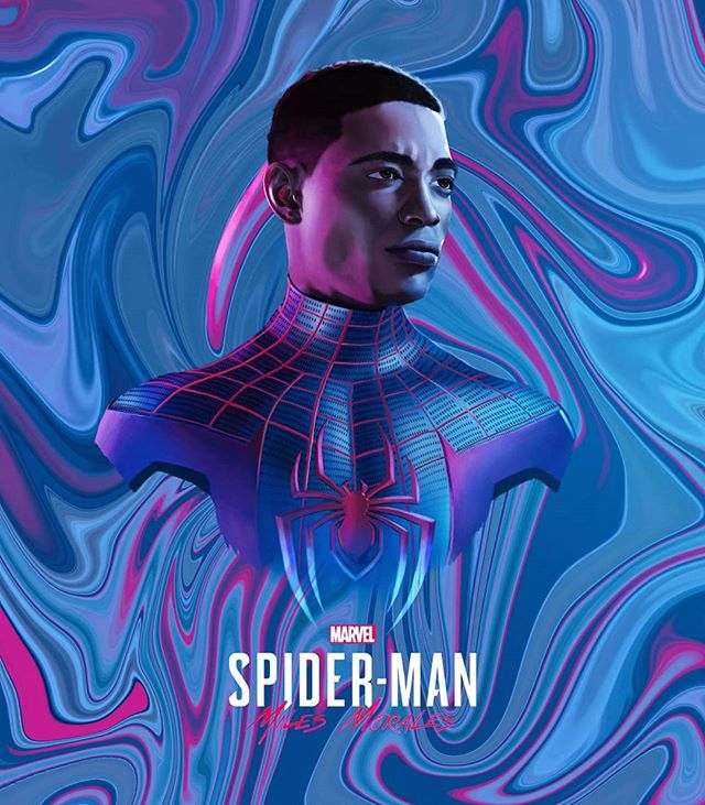 Visualsofazmat Spiderman Miles Morales Quick Miles Morales Head Portrait This Game Looks Fan Miles Morales Spiderman Superhero Wallpaper Miles Morales