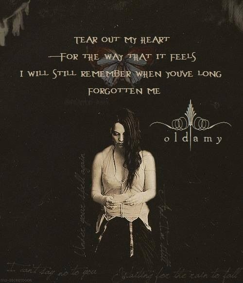 Evanescence With Images Evanescence Lyrics
