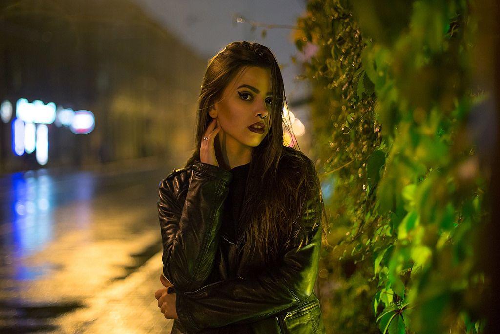 Как фотографировать портрет в ночном городе