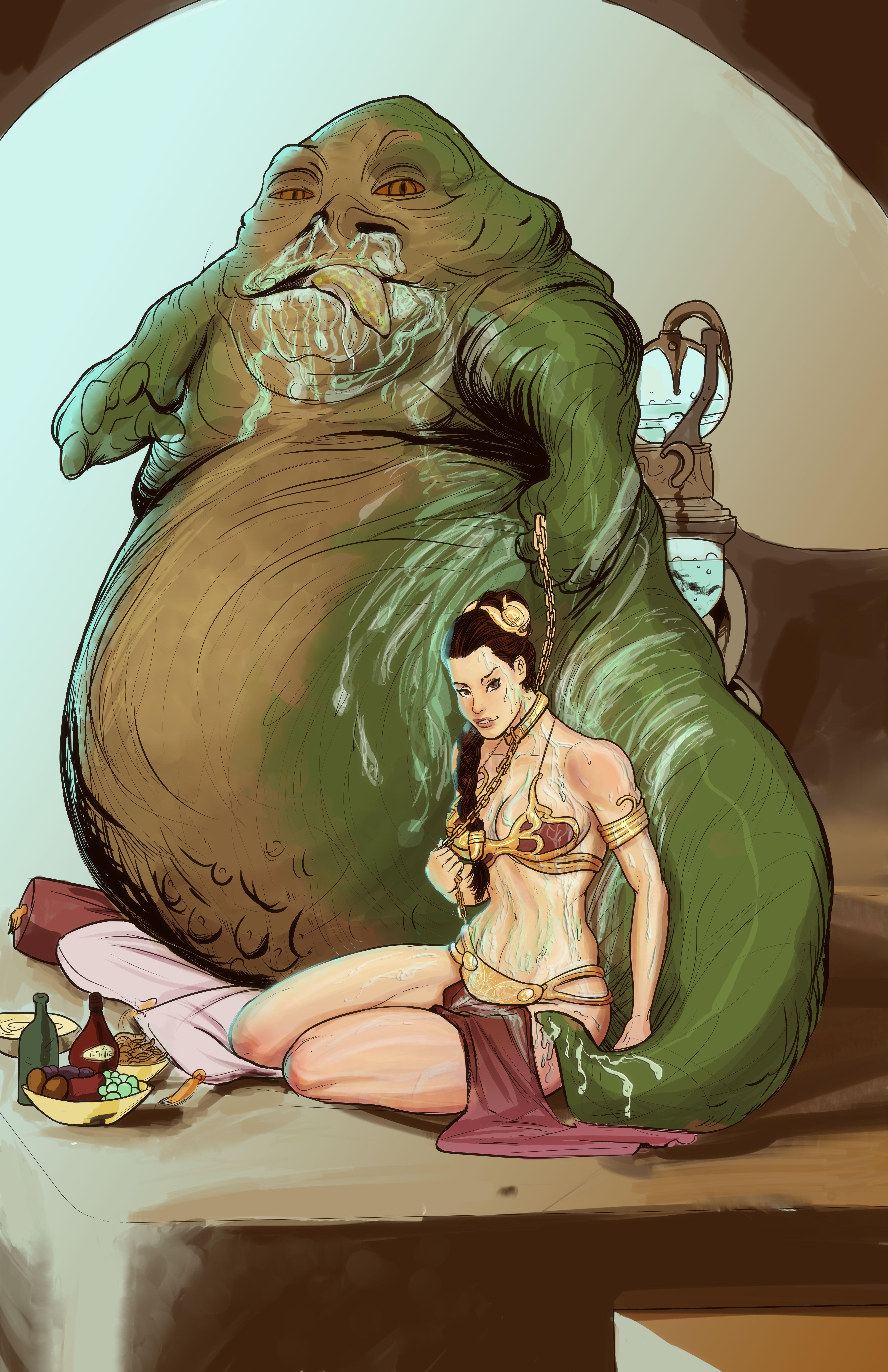 Jabba The Hutt Fucks Princess Leia Delightful star wars - leia and jabba the hutt colorheyserdna   princess
