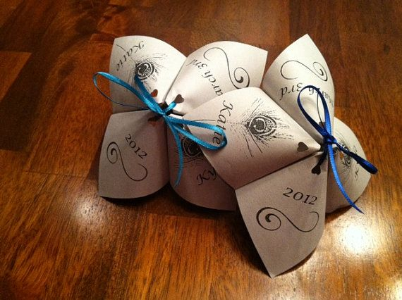 Cootie Catcher Wedding Program DESIGN ONLY Pdf By GinghamGrins 2000