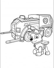 Rocky And His Recycling Truck Paw Patrol Coloring Pages Paw