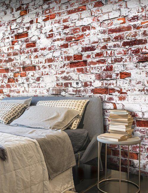 Muro di mattoni elegant antico muro di mattoni with muro for Carta da parati effetto muro mattoni