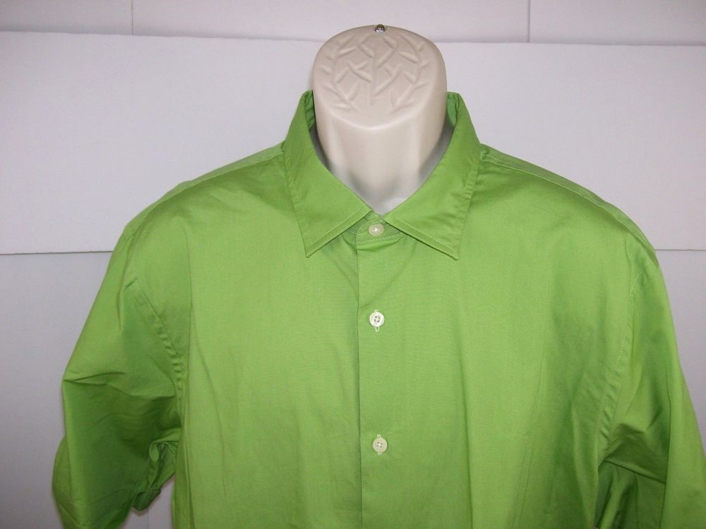 John Bartlett Consensus Mens On Front Shirt Green Xl Short Sleeve Cotton