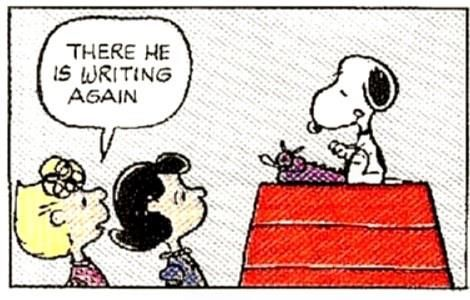 Image result for snoopy typing