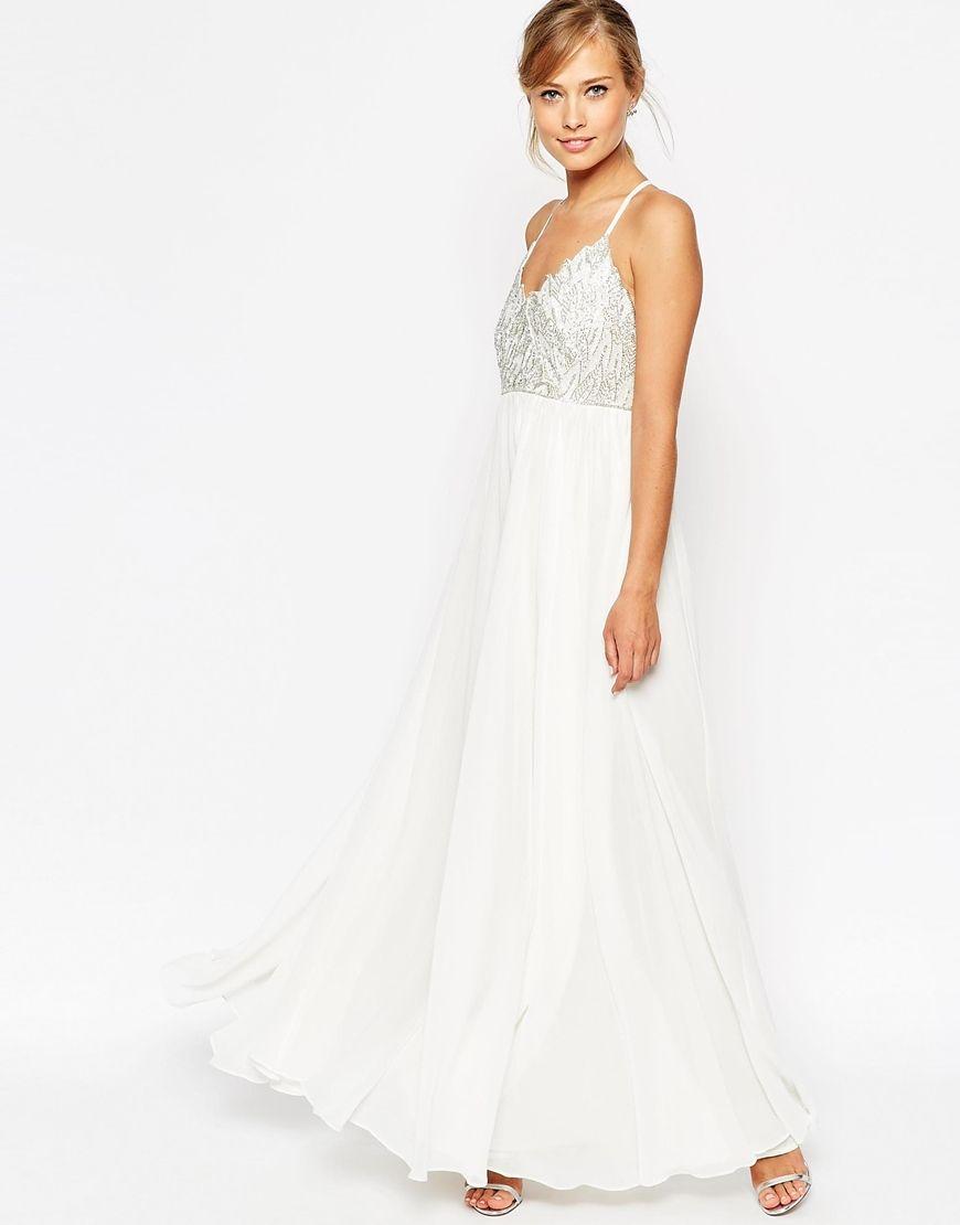 SALON – Verziertes Maxikleid mit Trägern   Maxi dresses, Prom and Gowns 891652252d
