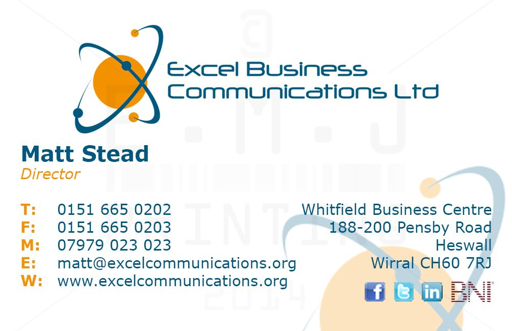 A quick business card re build for a client in Heswall | EMJ ...