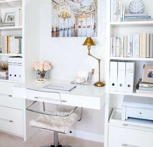 21 Feminine Home Office Designs Decorating Ideas: Feminine Office Ideas
