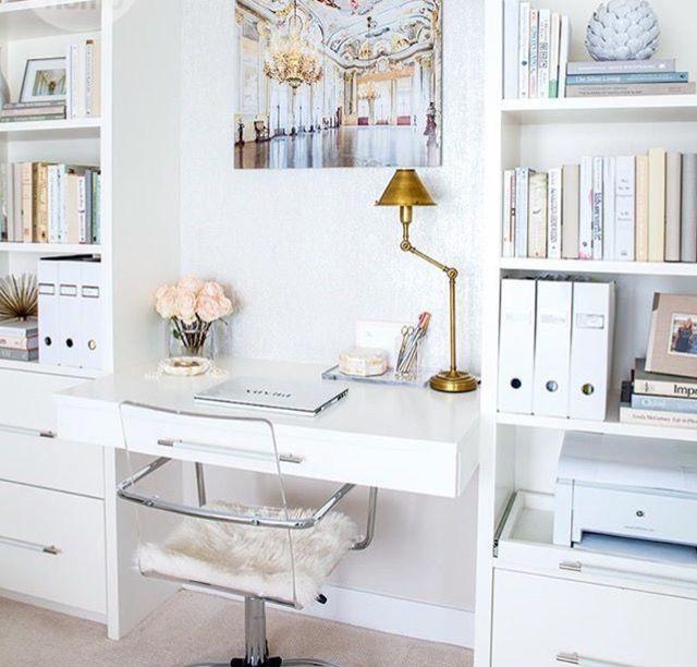 Feminine Office Decor feminine office decor | feminine office ideas | girl boss office