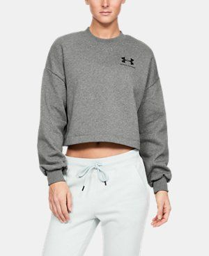 Photo of Women's UA Rival Fleece Graphic LC Crew | Under Armour US
