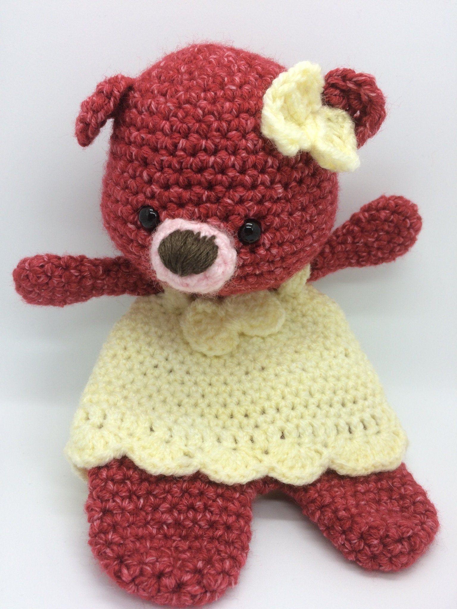 Ravelry: Lovey Blanket Bear Security Blanket Teddy pattern by Tatie | 2048x1536