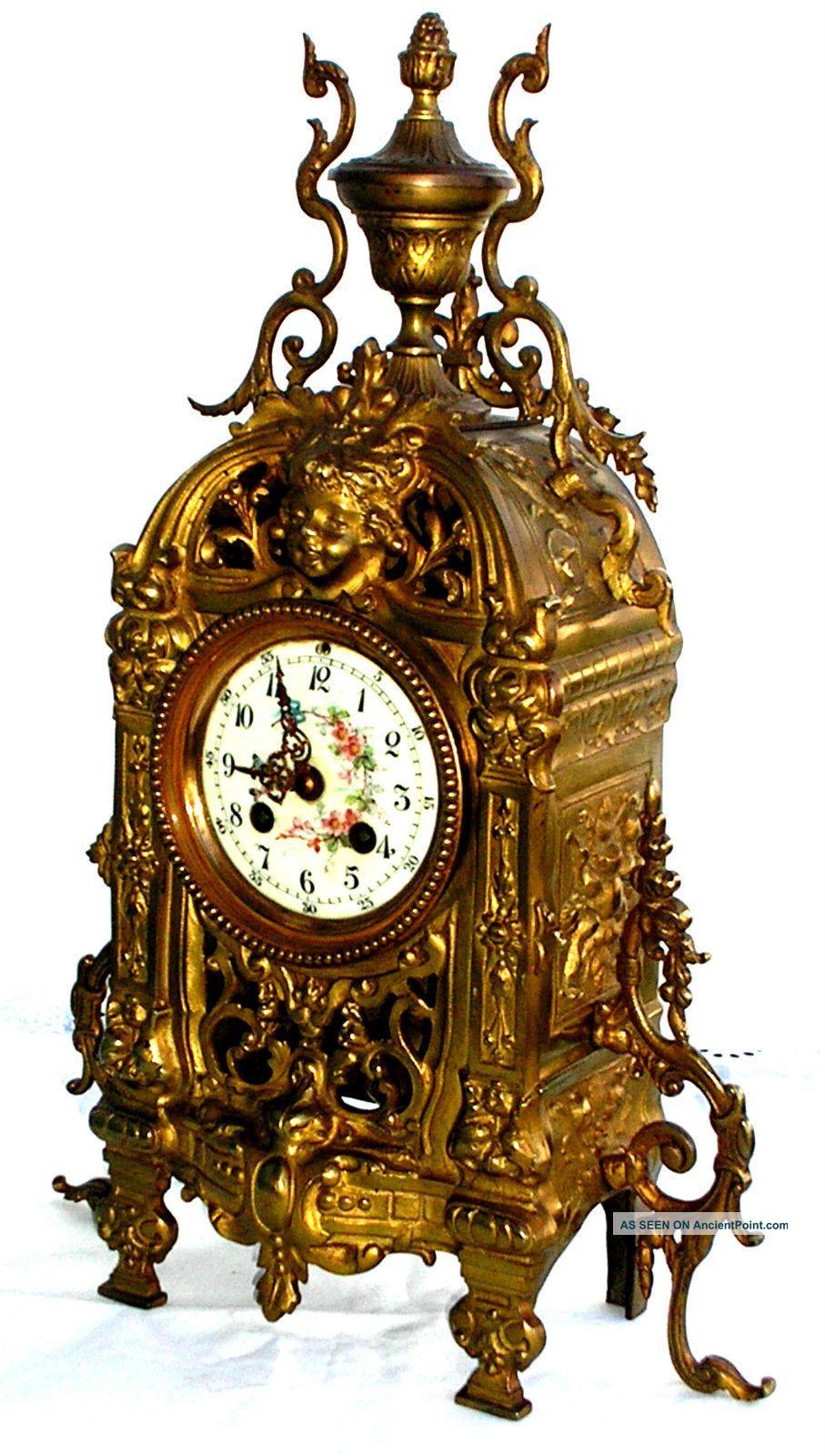 Antique Clocks Antique 19th Century French Bronze Mantel