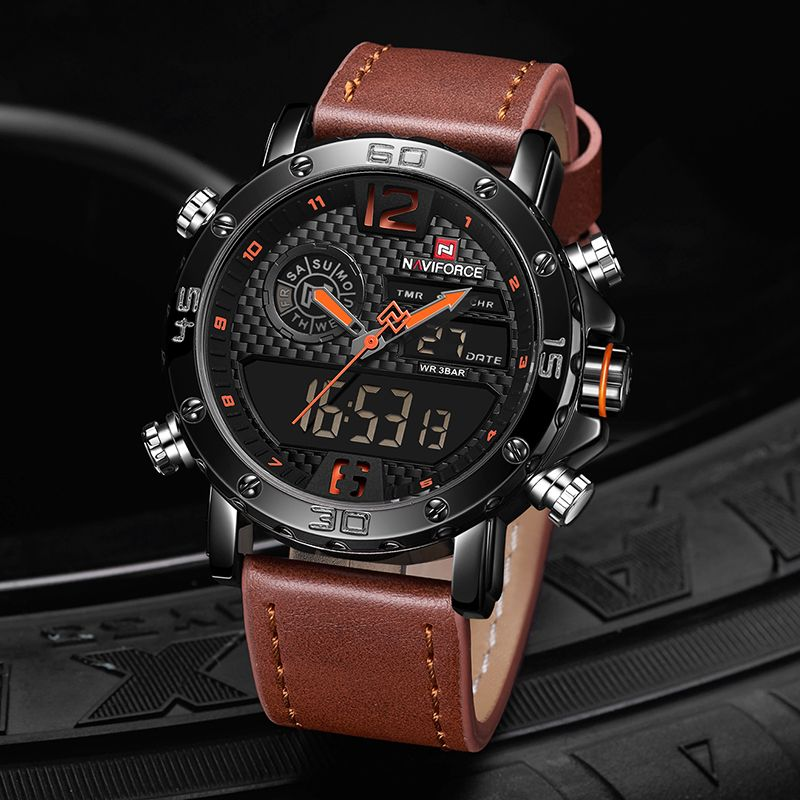 Men Leather Sports Watch Watches For Men Hublot Watches Men Military Watches