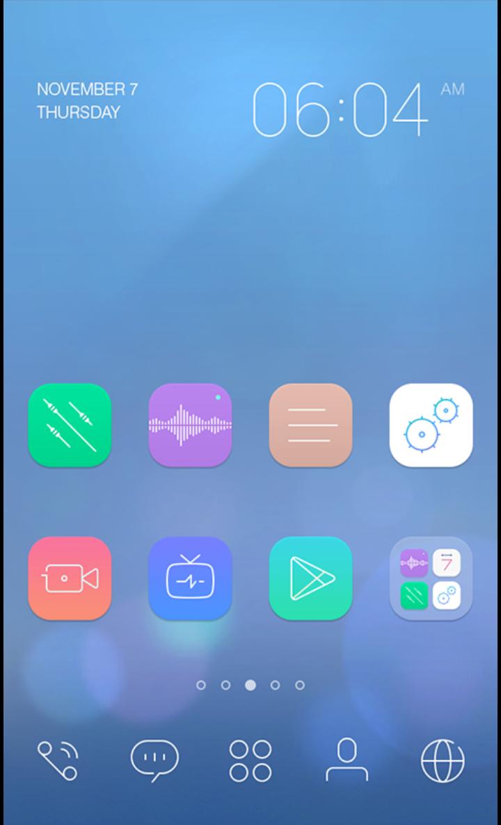 Vividline theme by dodol launcher   Phone themes
