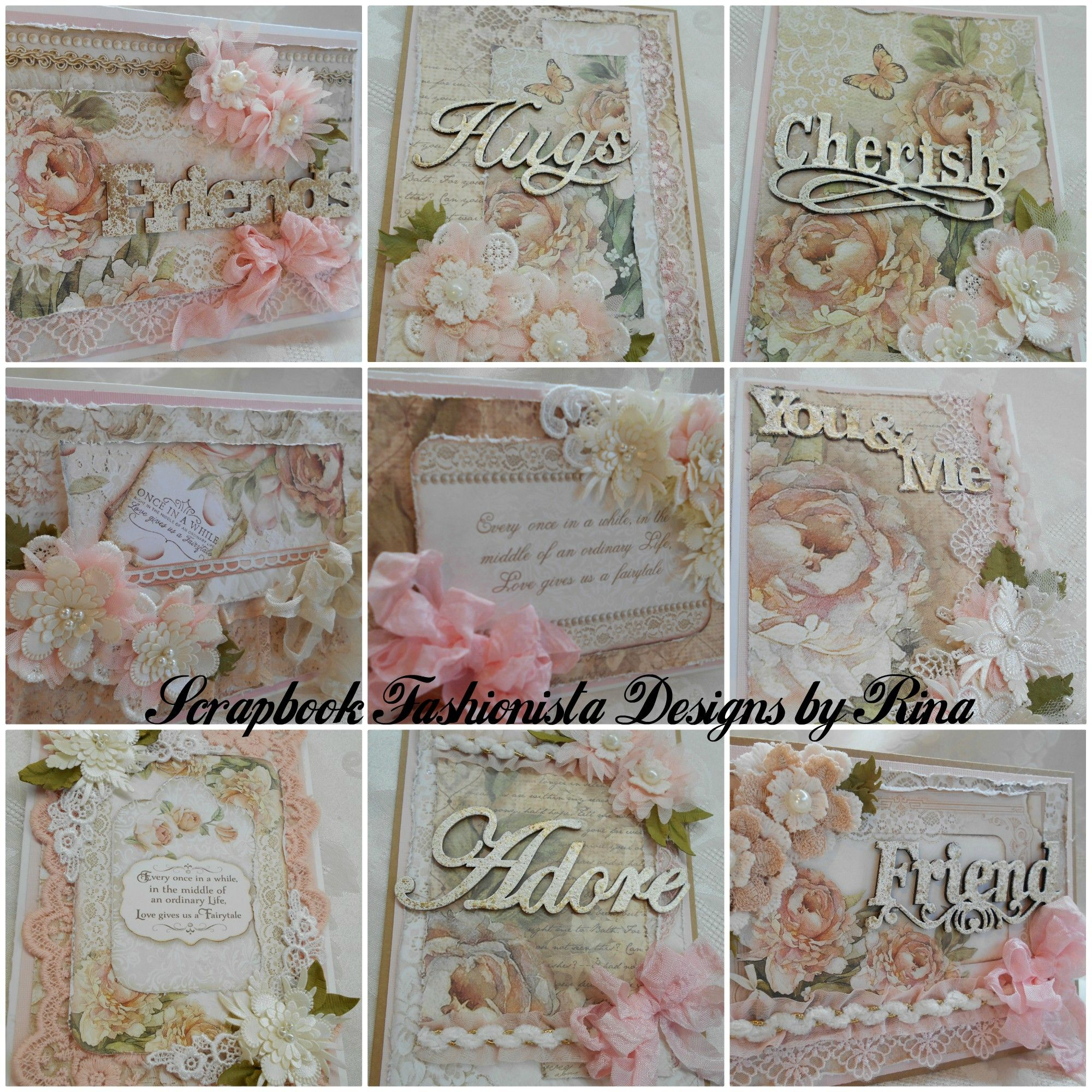 These Cards Were Created With The Stamperia Cermony Paper Pack This Is A Wedding Themed Kit But You Can Create Any Type Of Card With Th Shabby Chic Cards Cards