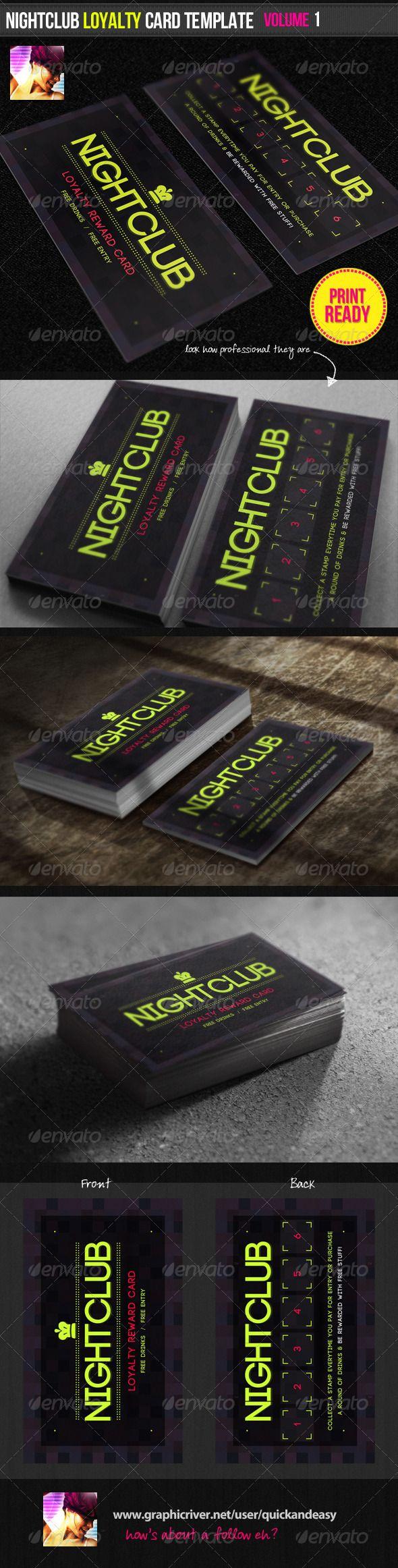 Nightclub Loyalty Card Template Loyalty Card Template Loyalty Card Design Card Template