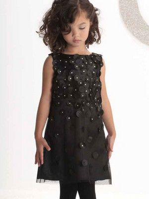 ee602edfb Biscotti Falling For Dots Little Girls Black Party Dress Size 5 LAST ...