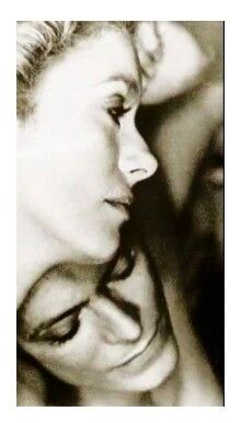 """Beautiful portrait of """"The Hunger"""" costars Catherine Deneuve and David Bowie."""