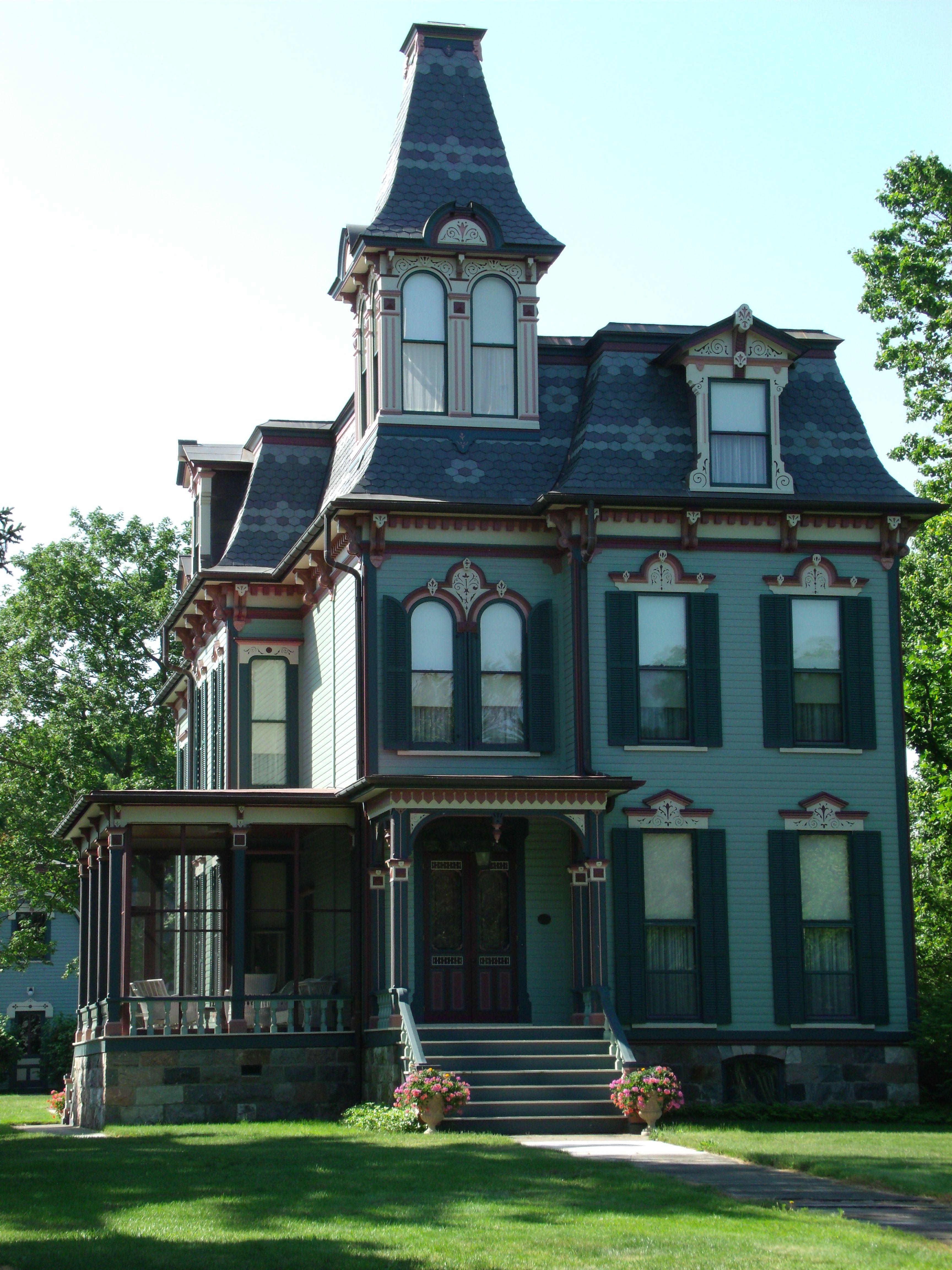 Davenport curtiss mansion saline mi victorian houses - Mansion victoriana ...