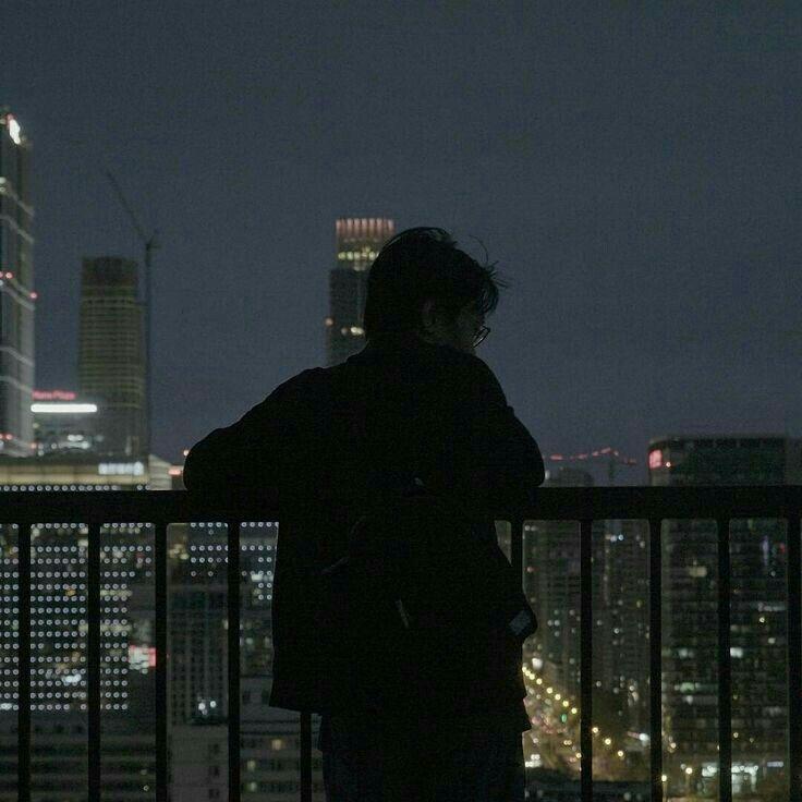 Black Aesthetic Ulzzang City Balcony Grunge Dark Shadows