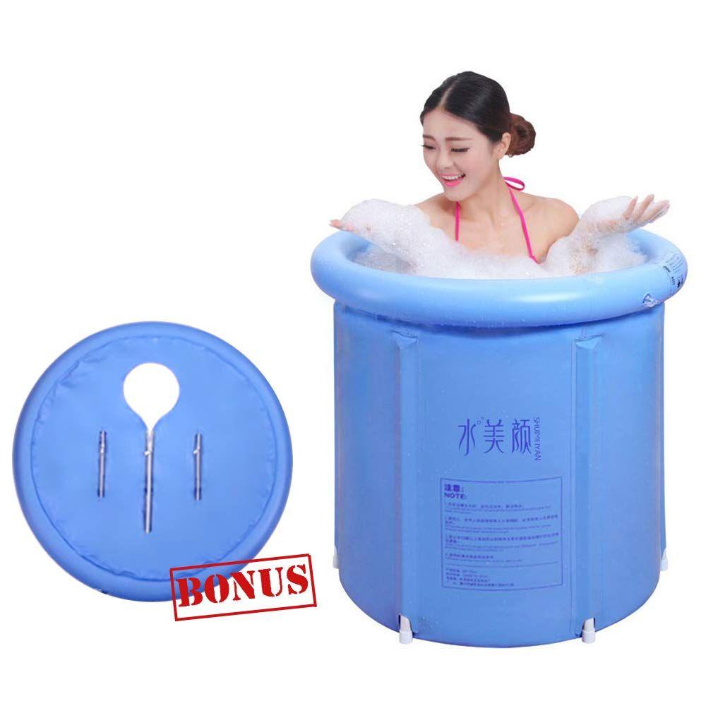 Eosaga Portable Plastic Bathtub Inflatable Portable Tubs Pvc Bath