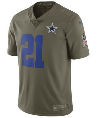 ddd75fd62 Nike Men's Ezekiel Elliott Dallas Cowboys Salute To Service Jersey - Green  XXL