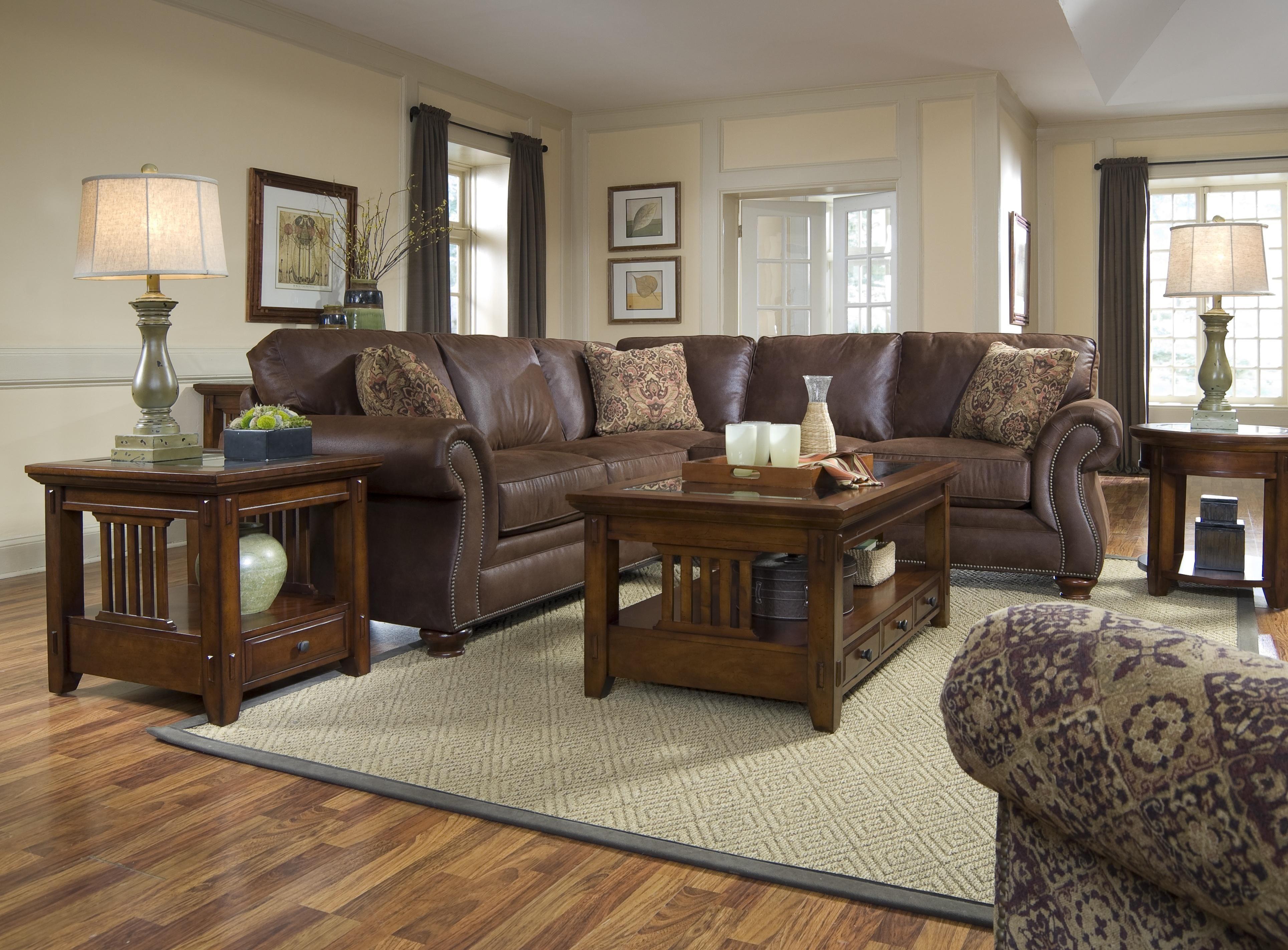 Broyhill Furniture Laramie Collection Corner Sectional Sofa Livingroom