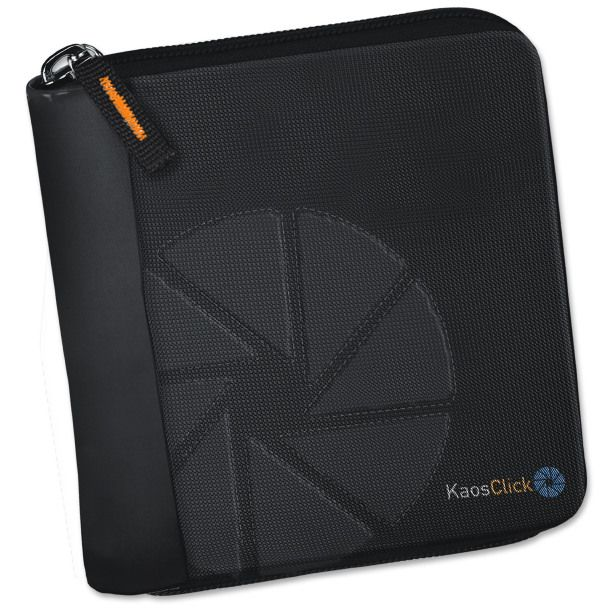 KAOS CLICK-NON STOP: wallet with zip closure - Material: Nylon with faux leather inserts - Size: 9 x 10.5 x 1 cm