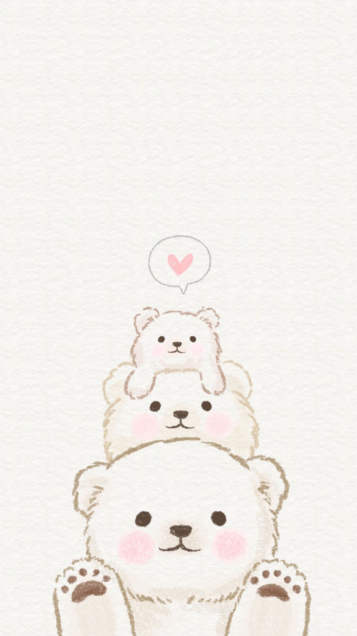 Bear Love Kawaii Wallpaper Cute Doodles Cute Wallpapers