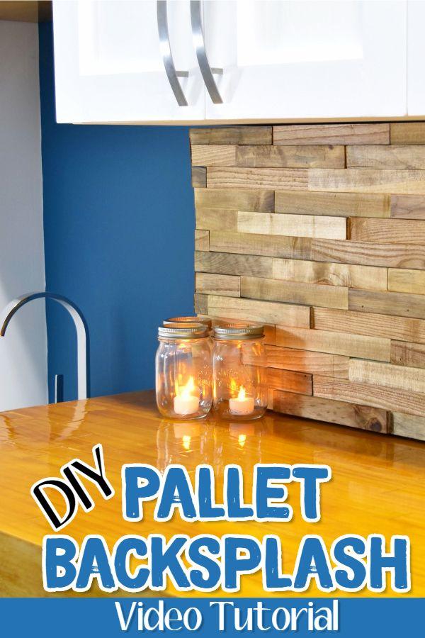 DIY Decor Ideas With Pallets / Pallet Wood   Pallet Wood Backsplash Idea  For Under Cabinets