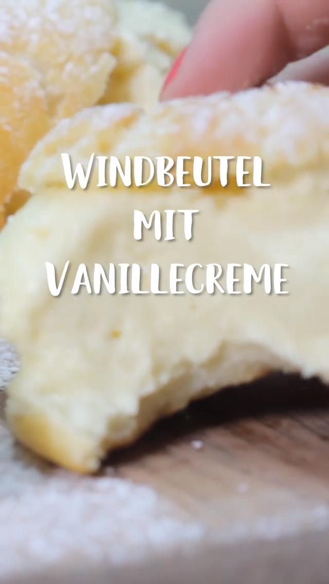 Omas Windbeutel gefüllt mit Vanillecreme