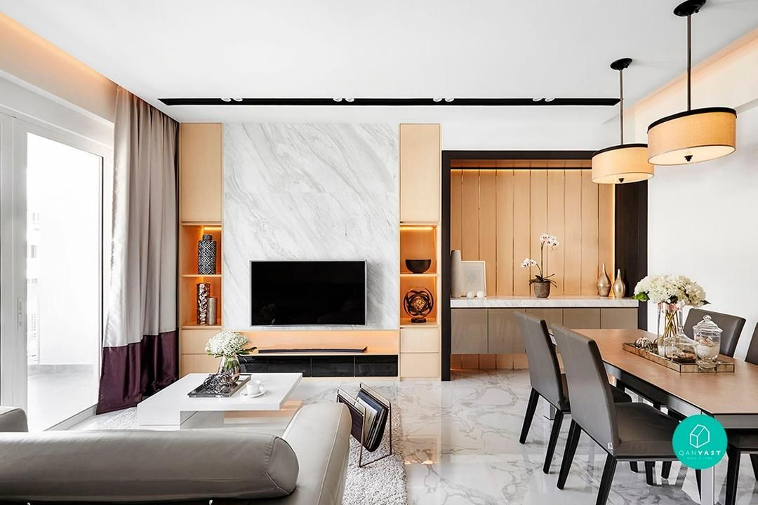 10 Modern Luxury Homes That Exude Class Interior Design Singapore Marble Interior Interior Design