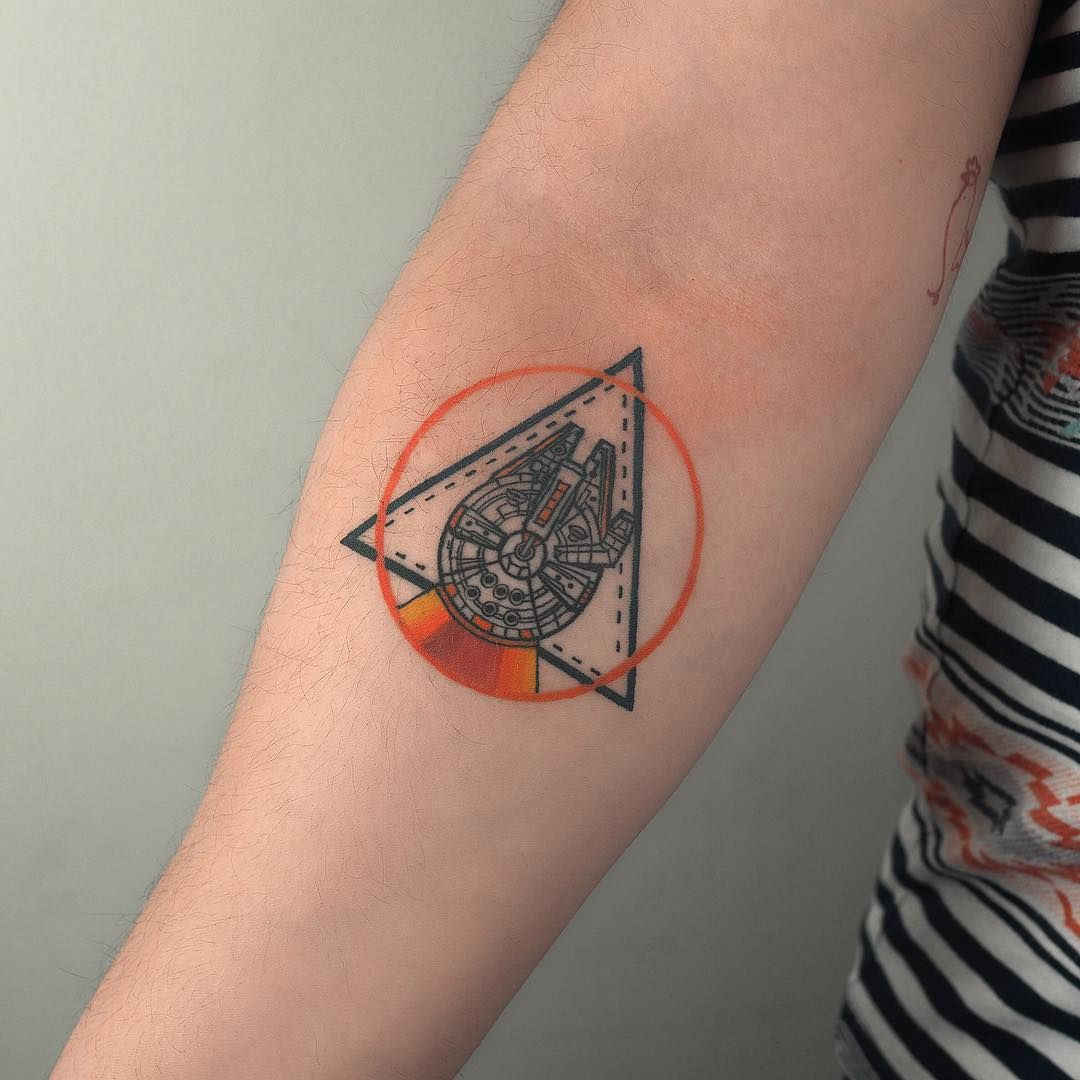 c9e2dcceb Tattoo artist Baris Yesilbas color athors style watercolor tattoo with  geometry and realistic elements | Turkey