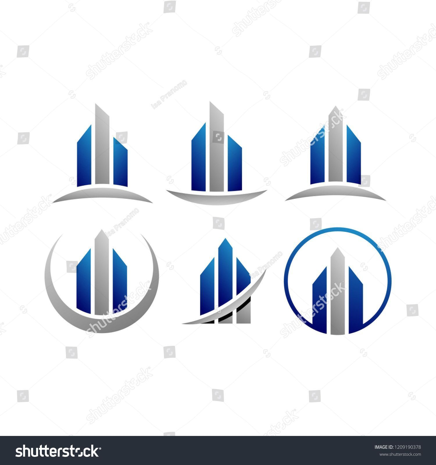 Modern Building Logo Design Template Vector Bathroomdesigntemplate Building Logo Great Buildings And Structures Modern Buildings