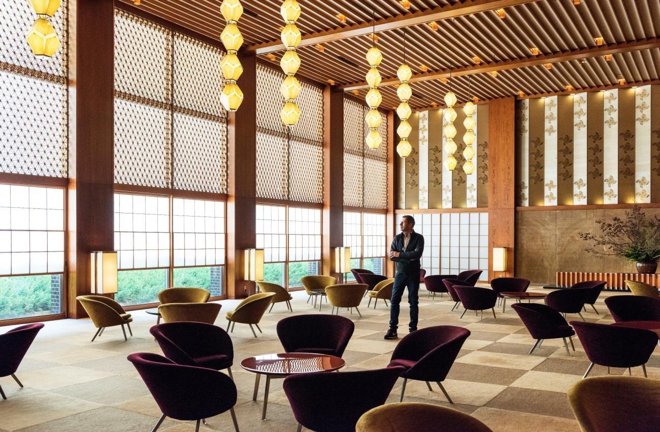 Tomas Maier in seinem geliebten Hotel Okura Tokyo