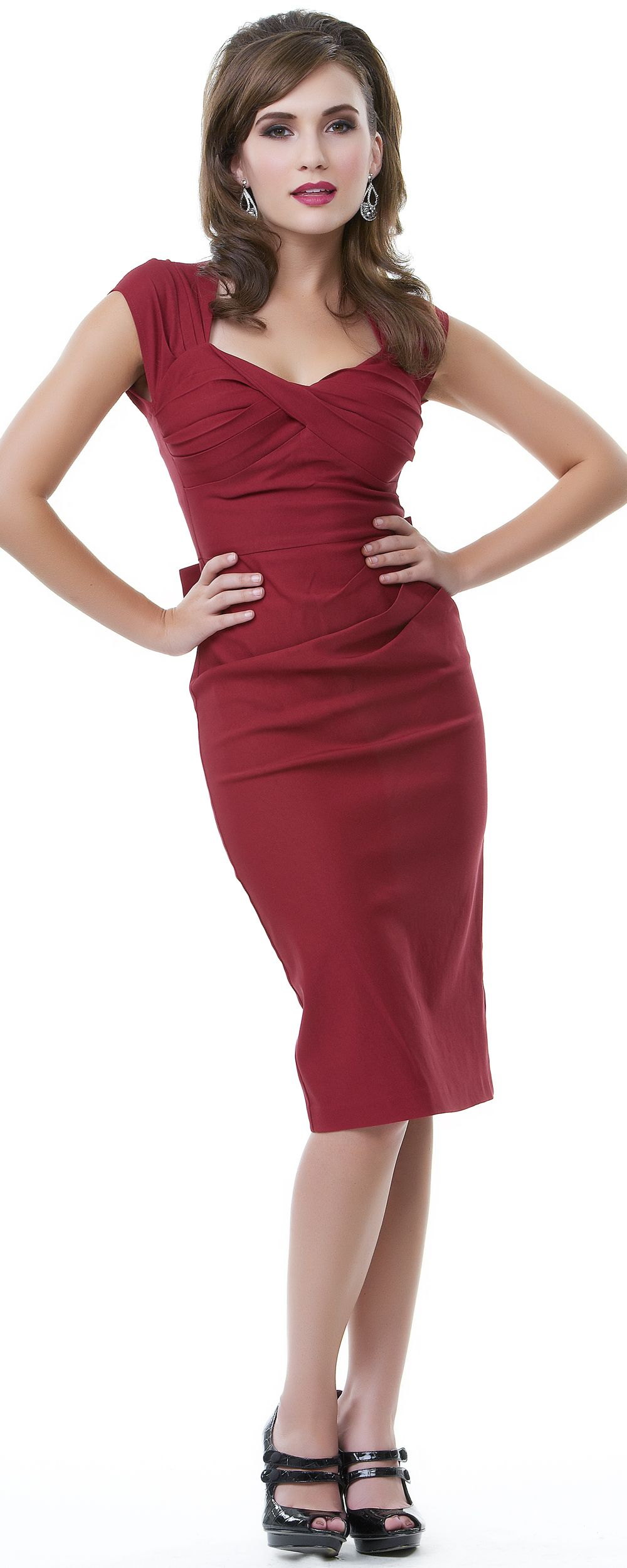 Us style stop staring red fitted love wiggle dress this is it